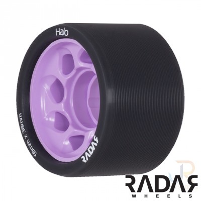 Radar Halo Derby Wheels - Charcoal/Teal 59mm 88A