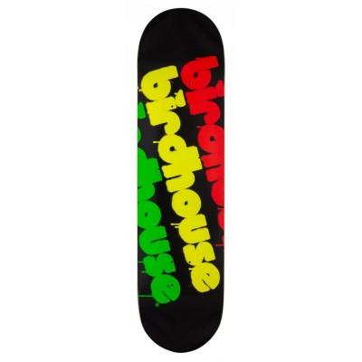 """Birdhouse Triple Stack Skateboard Deck - Rasta 8"""""""