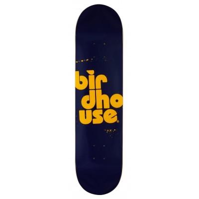 "Birdhouse Stacked Spray Skateboard Deck - Navy 7.75"""
