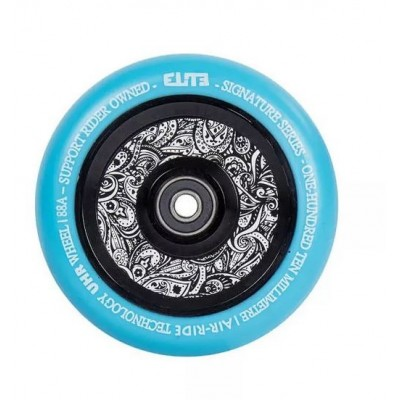 Elite Air Ride Camo Pro Scooter Wheels 110mm - Blue/Floral