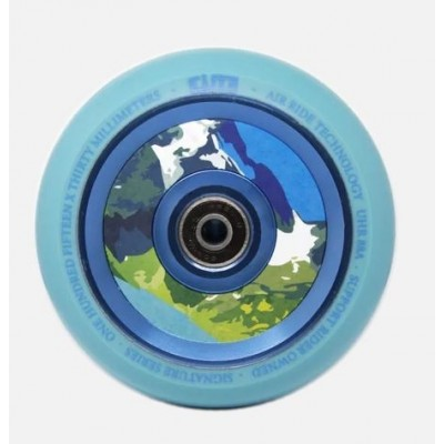 Elite Air Ride Aqua Scooter Wheels 110mm (Pair) - Blue