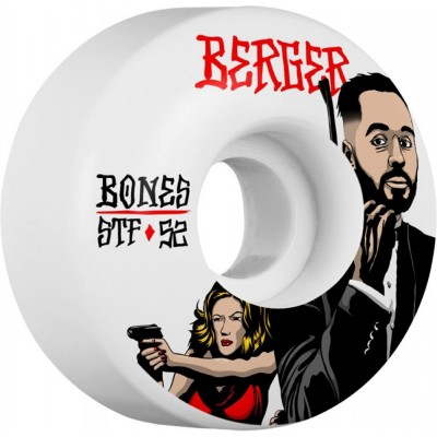 Bones STF Berger Spy V3 52mm Skateboard Wheels