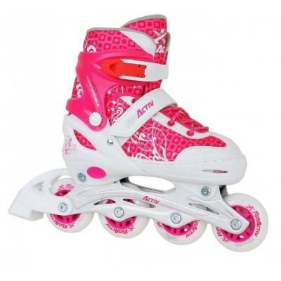 Fun Activ Adjustable Inline Skates - Pink/White