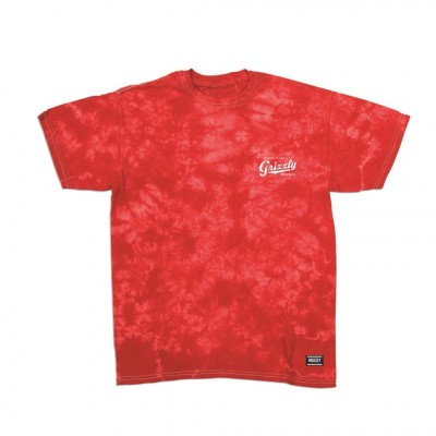 Grizzly Frozen Tie-Dye T-Shirt - Red