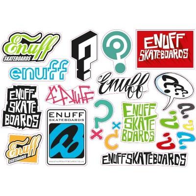 Enuff Skateboard Sticker Sheet