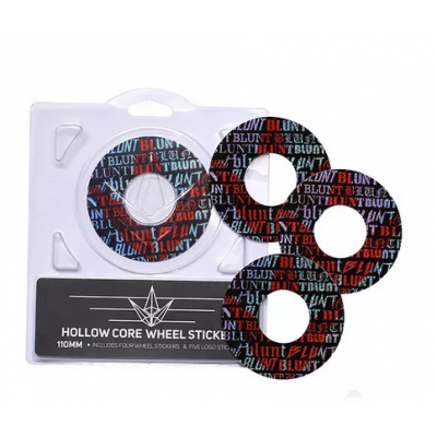 Blunt Hollowcore 120mm Stunt Scooter Wheel Stickers - Font