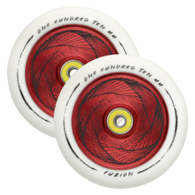 Fuzion Marker Scooter Wheels 110mm Hollowcore - Red/White