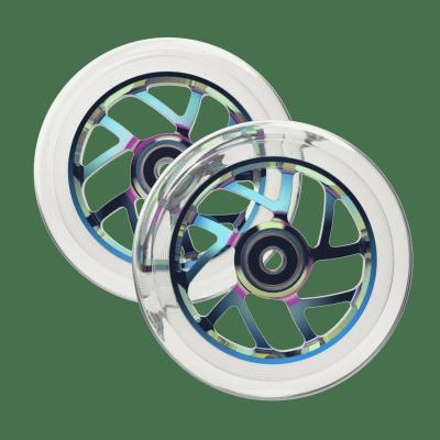 Fuzion Flight Scooter Wheels - Clear/Neochrome