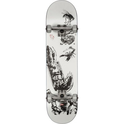 """Globe Hard Luck White/Black Complete Skateboard - 8.0"""""""