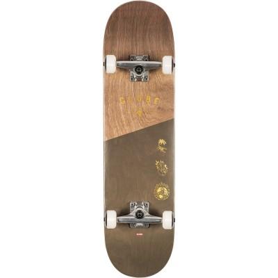 "Globe Insignia Dark Maple/Green Complete Skateboard - 8.25"""