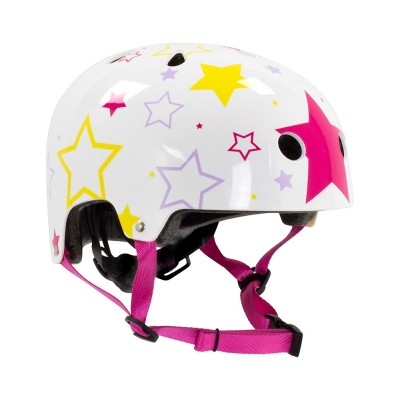 SFR Adjustable Kids Helmet - White/Pink