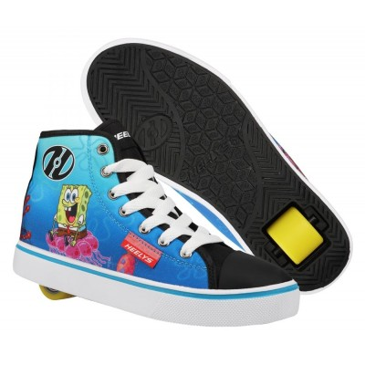 Heelys X Spongebob Hustle (HES10362)- Black/White/Multi Canvas