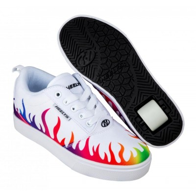 Heelys Pro 20 Prints (HE100813) -  White/Rainbow Flames