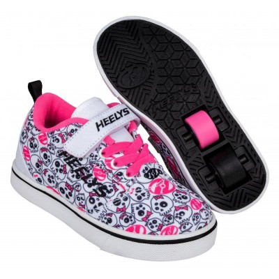 Heelys Pro 20 X2 (HE100724) - White / Black /Hot Pink /Skulls