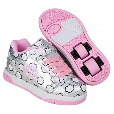 the best attitude 94d51 c4f68 Heelys Dual Up X2 Silver Glitter Light Pink Paws
