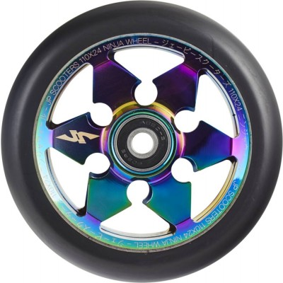 JP Ninja 6-Spoke Pro Scooter Wheel 110mm - Neochrome