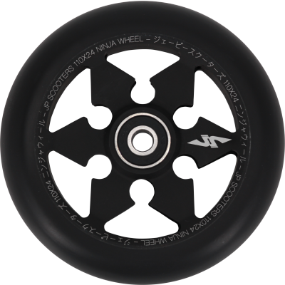 JP Ninja 6-Spoke Pro Scooter Wheel 110mm - Black