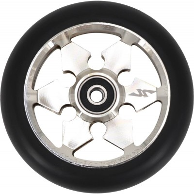 JP Ninja 6-Spoke Pro Scooter Wheel 110mm - Silver