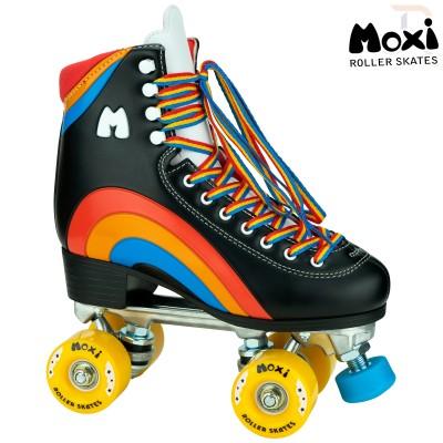 Moxi Rainbow Roller Skates - Black