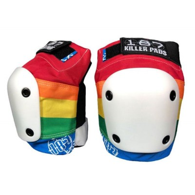 187 Killer Adult Slim Knee Pads - Rainbow