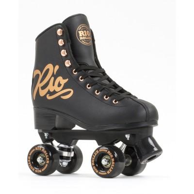 Rio Roller Rose Quad Roller Skates - Black