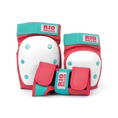 Rio Roller Triple Pad Set - Red/Teal