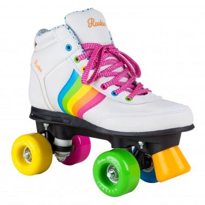 Rookie Forever Rainbow V2 Roller Skates - White/Multi