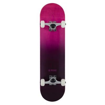 """Rocket Double Dipped Complete Skateboard - Purple 7.75"""""""