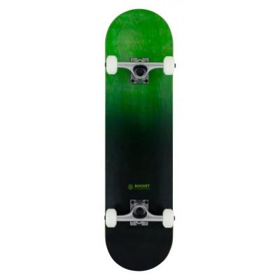 "Rocket  Double Dipped Complete Skateboard - Black 8"""