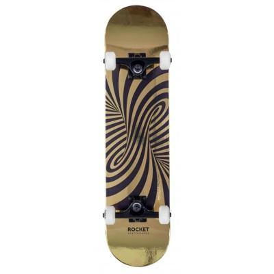 """Rocket Twisted Foil Complete Skateboard 7.5"""" - Gold"""