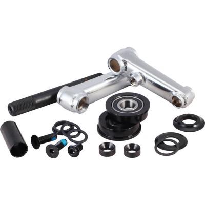 Rocker 48T Spline Crank Set With Pedal - Chrome