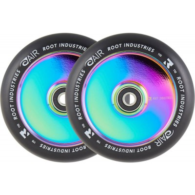 Root Air Pro Scooter Wheels 110mm - Black/Neochrome