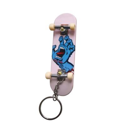 "Santa Cruz Screaming Hand Complete Skateboard - White/Blue 7.75"""