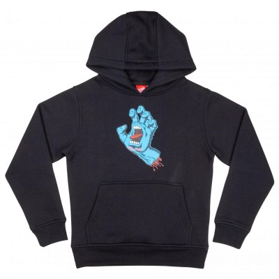 Santa Cruz Youth Hoodie Screaming Hand - Black
