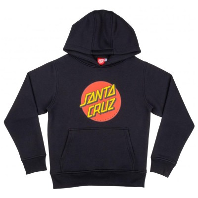 Santa Cruz Youth Classic Dot Hoodie - Black