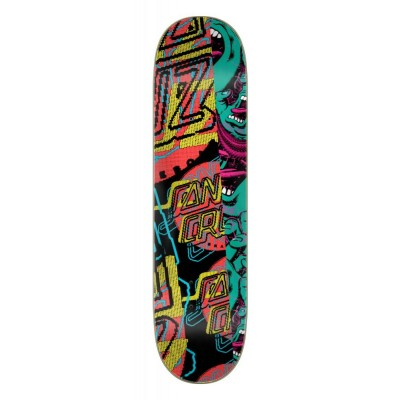 "Santa Cruz Everslick No Pattern Dot Skateboard Deck- Multi 8"""