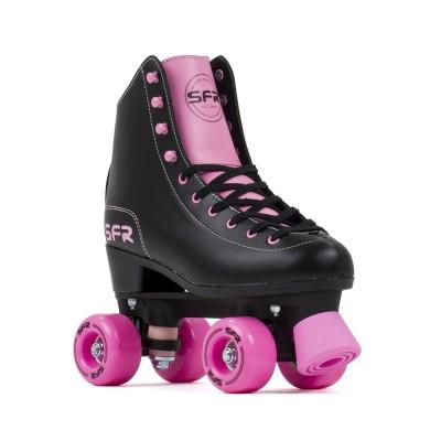 SFR Figure Quad Roller Skates - Black/Pink