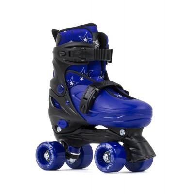 SFR Nebula Adjustable Quad Roller Skates - Black/Blue