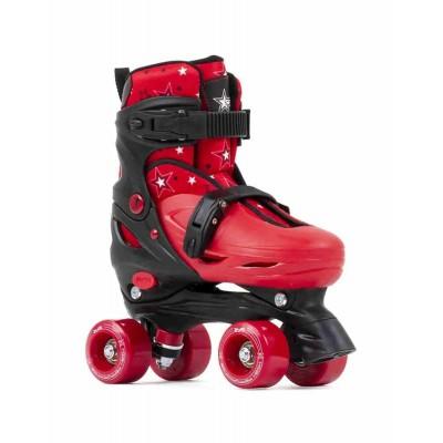 SFR Nebula Adjustable Quad Roller Skates - Black/Red