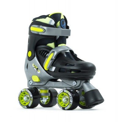 SFR Hurricane III Adjustable Quad Roller Skates - Black/Yellow