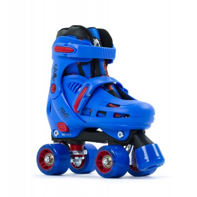 SFR Storm IV Adjustable Quad Roller Skates - Blue/Red