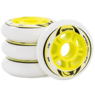 SFR Recreational Inline Wheels - White / Yellow