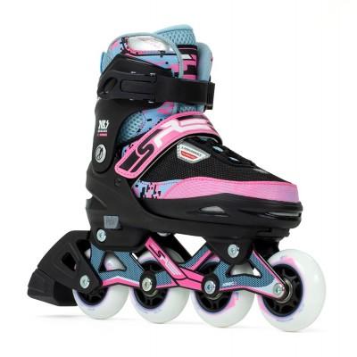 SFR Pixel Adjustable Inline Skates - Blue/Pink