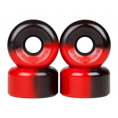 Sims Street Snakes 2tone  Quad Roller Wheels 78a (pk 4) - Black/Red