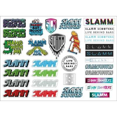 Slamm Scooters Sticker Sheet