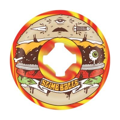 Slime BallsJ.Fish Burger Speed Balls 99a Skateboard Wheels 56 mm (Pack of 4) - Multi