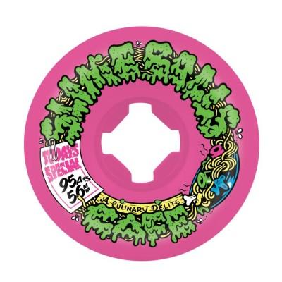 Slime Balls Double Take Cafe Vomit Mini Skateboard Wheels (Pack of 4) - Pink Black