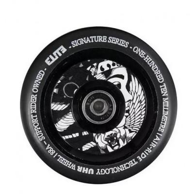 Elite X Supreme Air Ride Scooter Wheels 110mm (Pair) - Black/Supreme