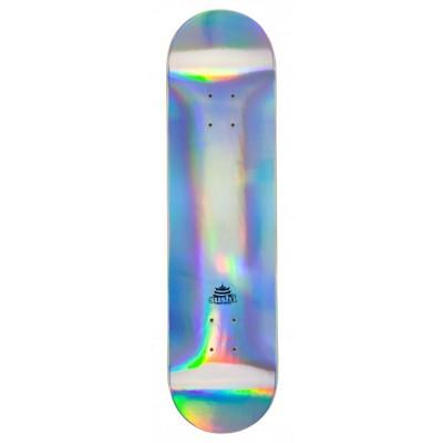 """Sushi Pagoda Foil Skateboard Deck - Silver 8"""""""