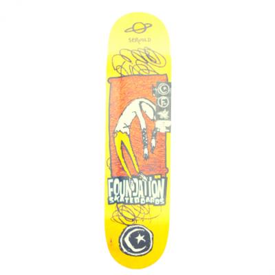 """Foundation Servold Planet Saturn Skateboard Deck - 8"""""""